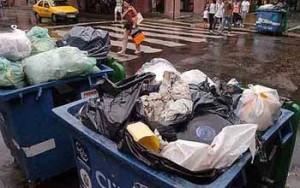 acumulación de residuos