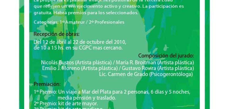 """2° EDICIÓN CONCURSO """"PINCELADAS A LO GRANDE 2010"""" PARA LA 3ra EDAD"""