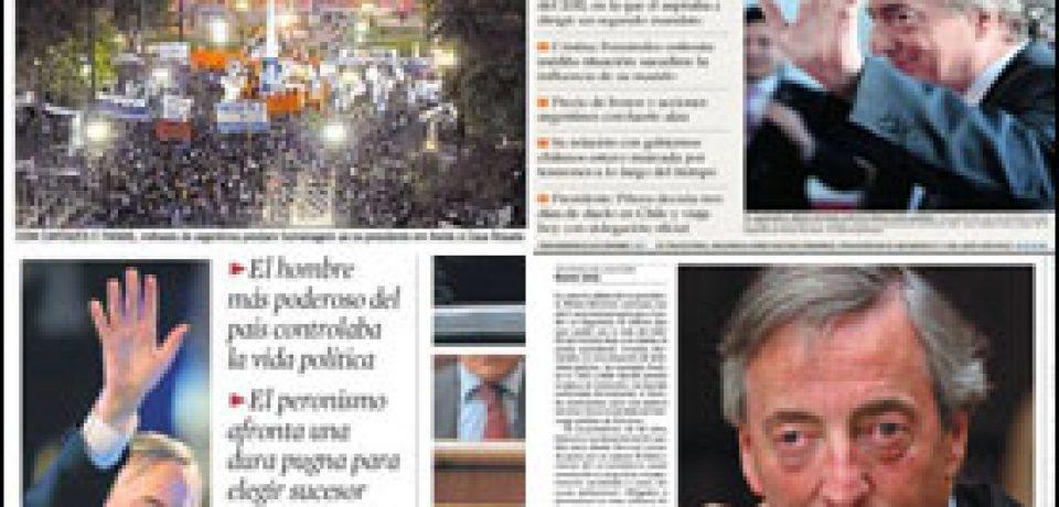 NESTOR KIRCHNER EN LAS TAPAS DE LA PRENSA MUNDIAL
