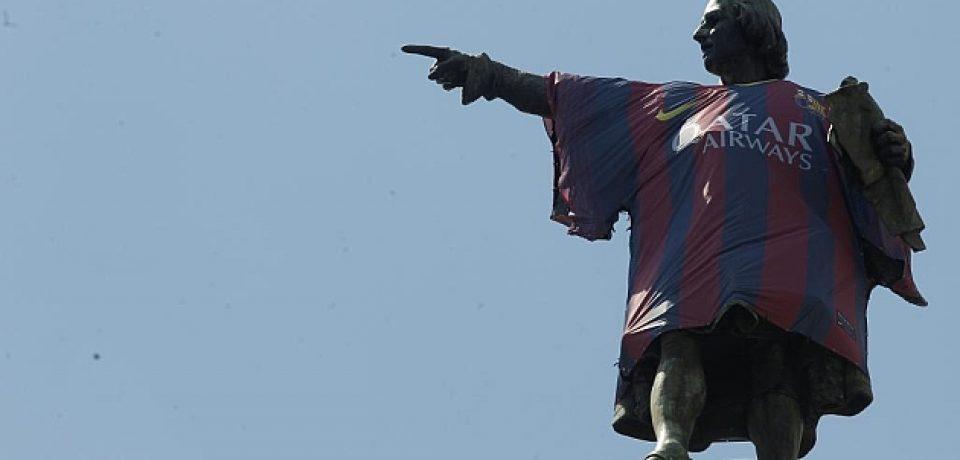 MONUMENTO A COLÓN ESPAÑOL: NO A LA CAMISETA DEL BARCA