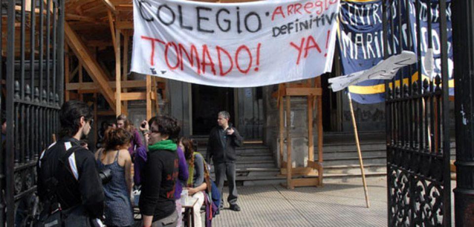COLEGIOS TOMADOS: HOY PROTESTA ESTUDIANTIL FRENTE AL PIZZURNO