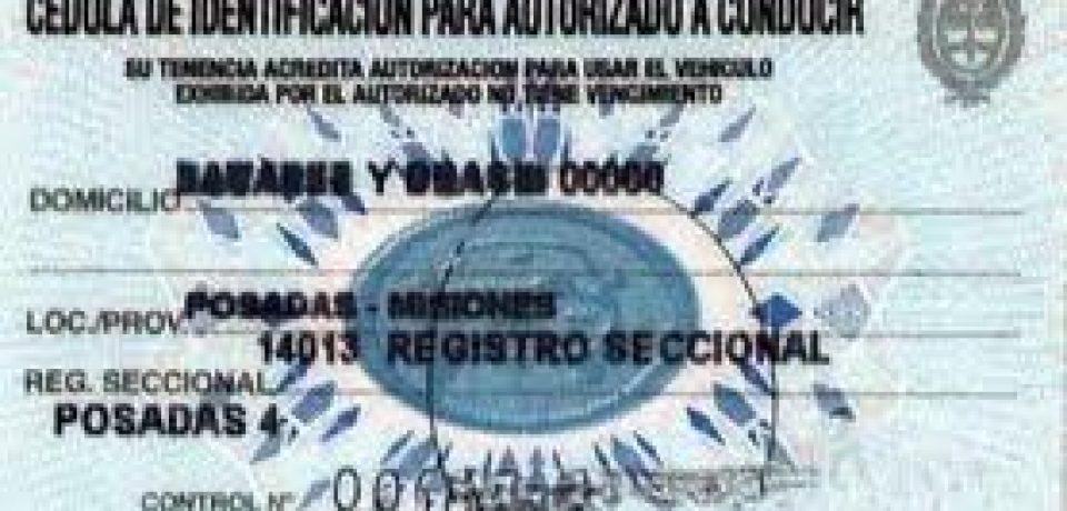 SAQUE LA TARJETA AZUL PARA PODER CONDUCIR UN AUTO QUE NO SEA SUYO
