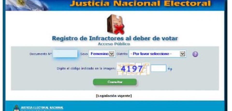 ELECCIONES: COMO PAGAR LA MULTA POR NO VOTAR