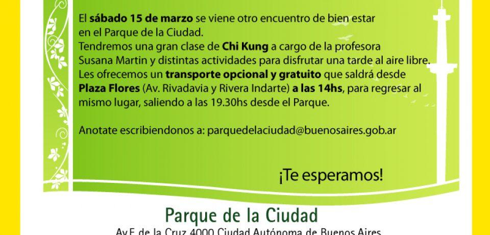 CHI KUNG EN EL PARQUE DE LA CIUDAD PARA TODOS