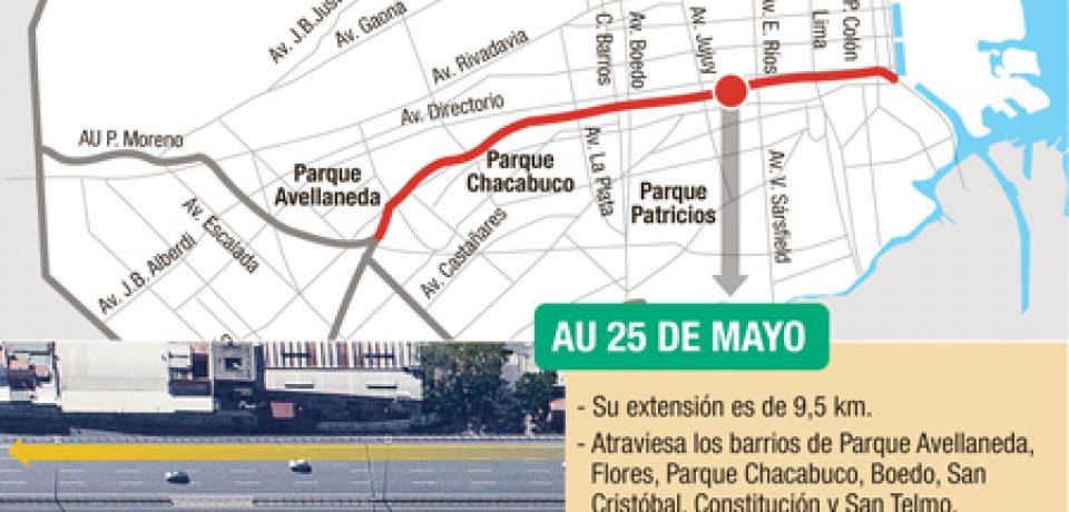 MACRI ANUNCIÓ LA CONSTRUCCIÓN DEL METROBUS 25 DE MAYO