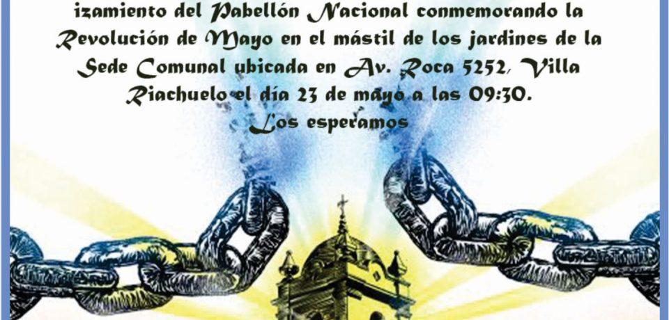LA COMUNA 8 INVITA AL ACTO DEL 25 de MAYO