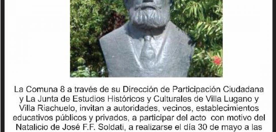 ACTO POR EL NATALICIO DE JOSÉ SOLDATI
