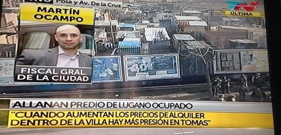 LA JUSTICIA ALLANA LA VILLA 20 Y EL PREDIO TOMADO
