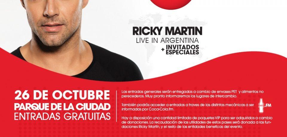RICKY MARTIN: EL MIÉRCOLES 1 COMIENZA EL CANJE DE ENTRADAS