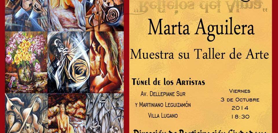 MUESTRA PICTÓRICA DE MARTA AGUILERA EN EL TÚNEL DE LOS ARTISTAS