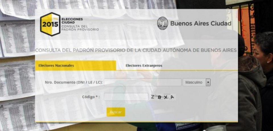 PADRÓN PORTEÑO PARA LAS ELECCIONES: CONSÚLTELO AQUÍ