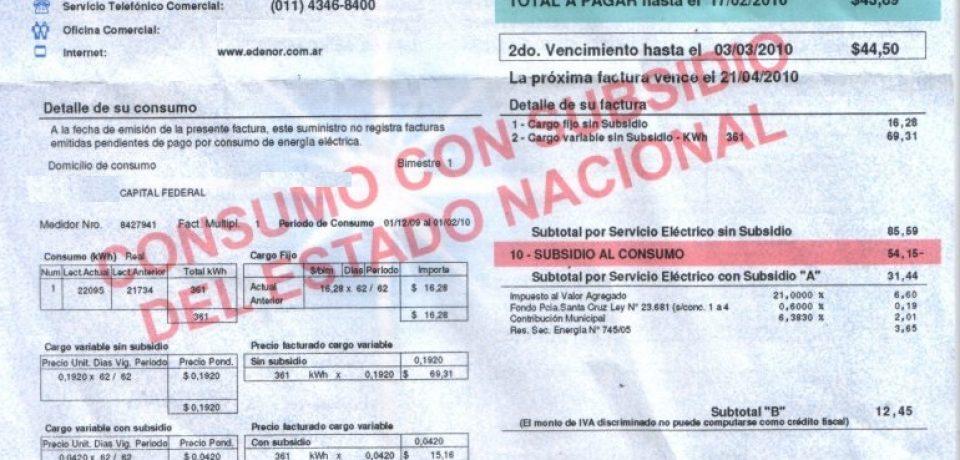 ES OFICIAL: EL TARIFAZO ENERGÉTICO ALCANZA EL 300%