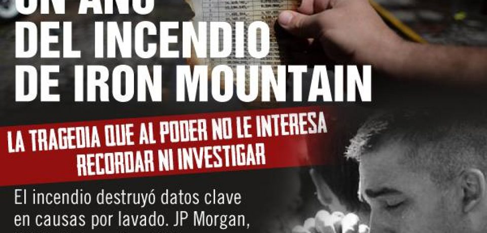 LUGANO: CLAUSURAN DEPÓSITO DE IRON MOUNTAIN