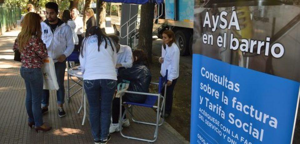AySA en el barrio para acceder a la tarifa social