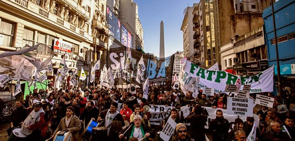 Movilización nacional de los trabajadores de prensa para defender sus derechos
