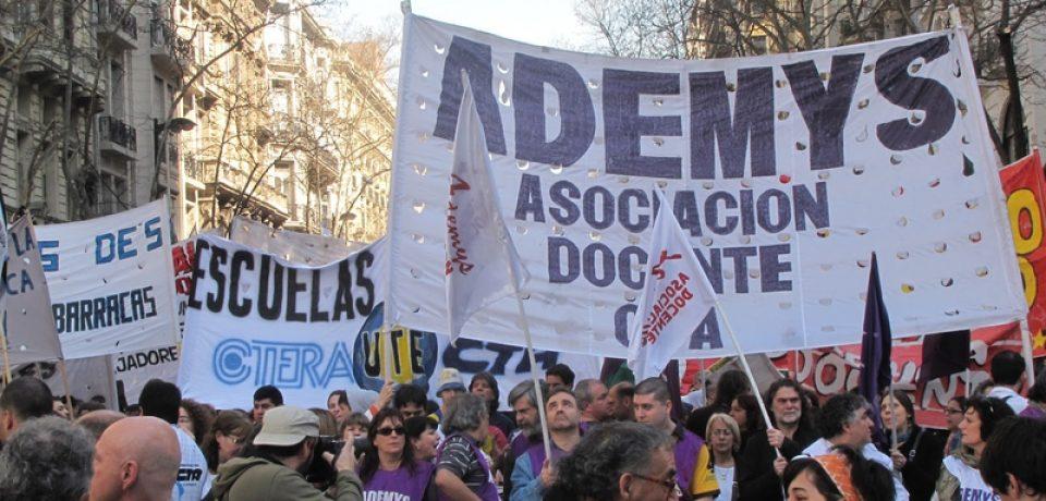 Ademys pide reapertura de paritaria para los docentes porteños