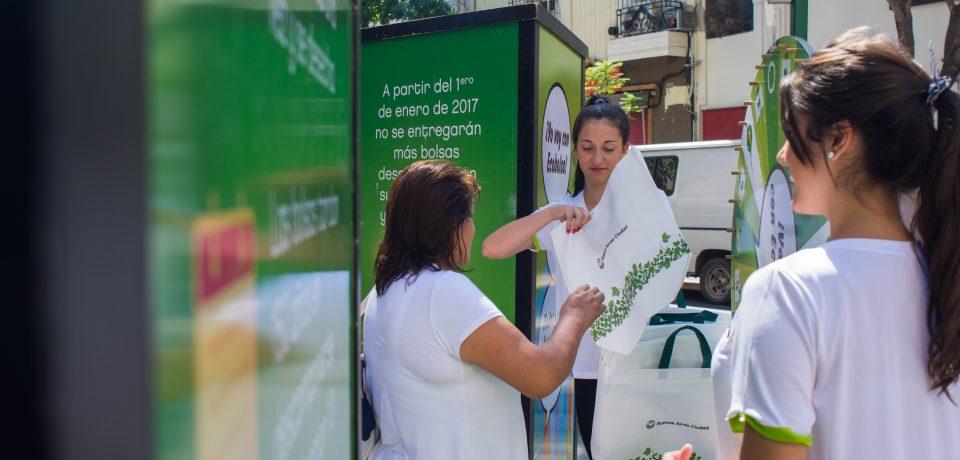 Los puntos de entrega de las ecobolsas en la Ciudad