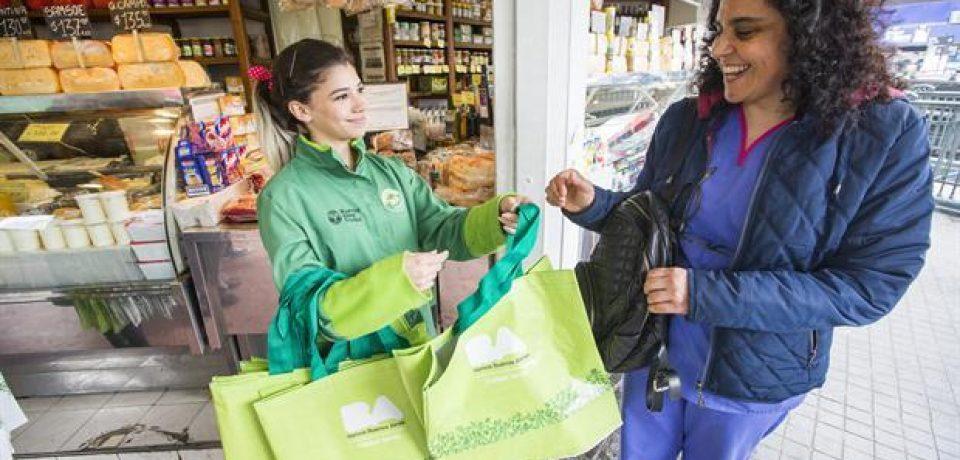 Puntos de entrega de bolsas reutilizables