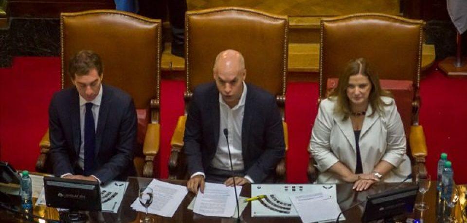 Rodríguez Larreta inauguró la Asamblea legislativa de la Ciudad