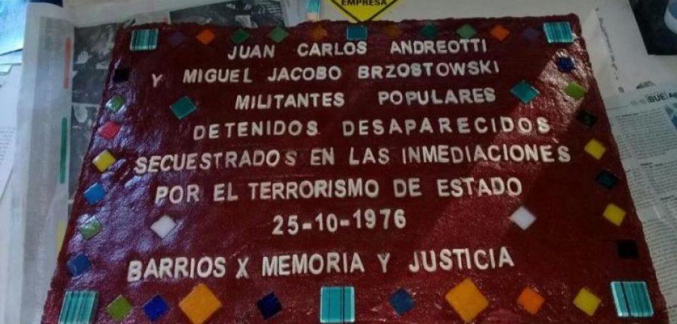 Homenajearán a los desaparecidos de la Comuna 15