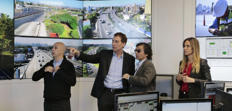 Diego Santilli Centro de Monitoreo AUSA