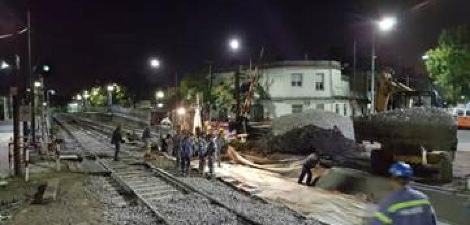 Renovación en el paso a nivel de Nazca