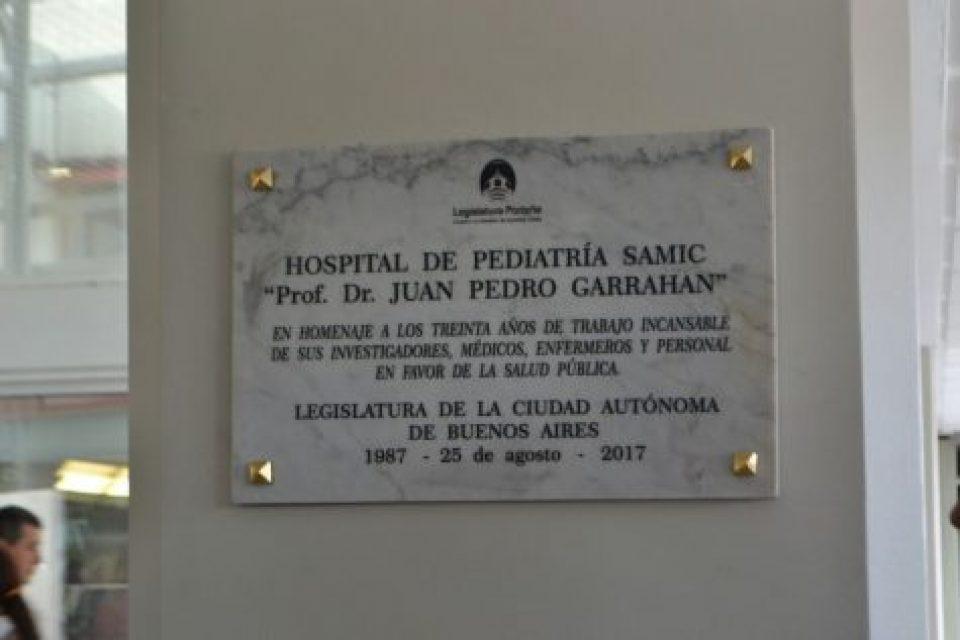 Homenaje al Hospital Garrahan