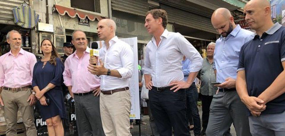 Larreta visita Liniers tras el desalojo de los manteros