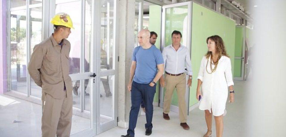 Larreta visitó la construcción del Polo Educativo en Mataderos