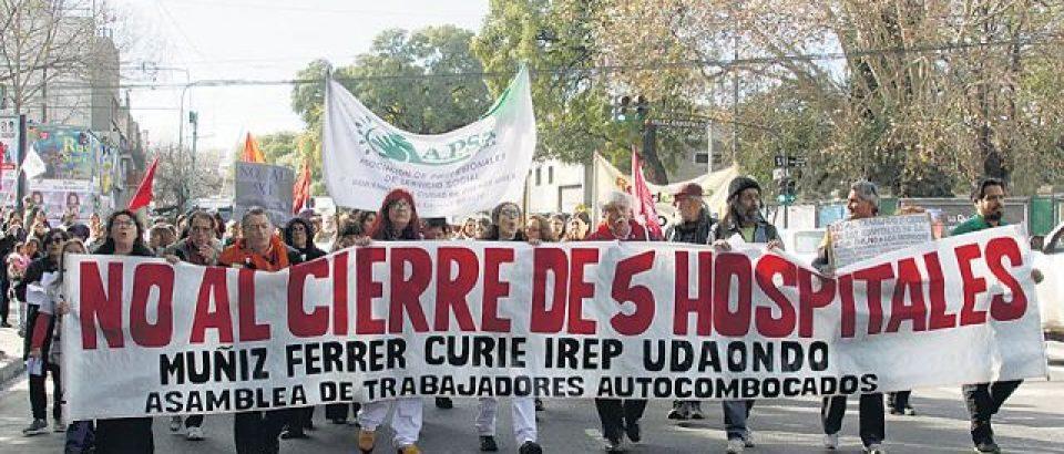 """Movilización contra el proyecto del """"Complejo Hospitalario Sur"""""""