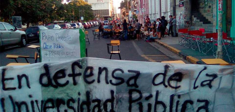 """La universidad pública no es de interés del macrismo"""