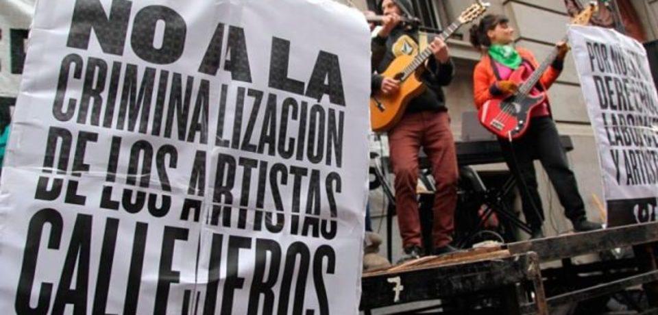Los artistas callejeros se concentraron contra Código Contravencional de la Ciudad
