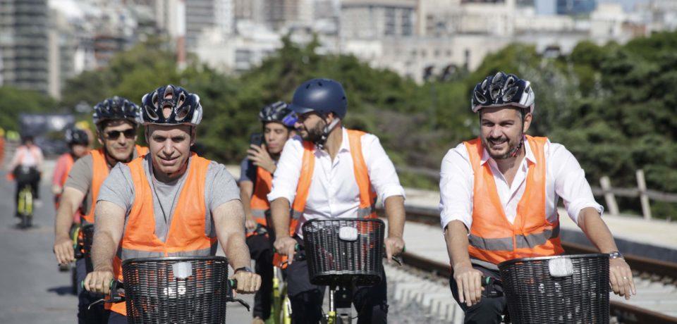 Recorrida en bicicleta por el Viaducto Mitre