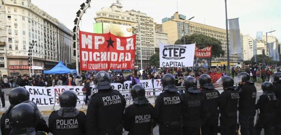 La CTEP le respondió a Larreta tras el incidente en el Obelisco