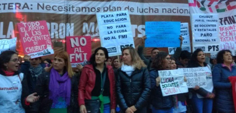 La crisis docente en Chubut llegó a la Ciudad